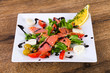 Salmon salad with eggs