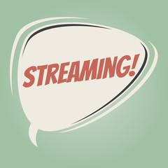 streaming retro speech balloon