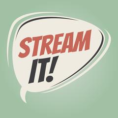 stream it retro speech balloon