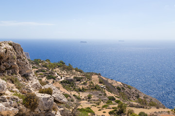 Dingli, Malta. Scenic view of the rocky coast