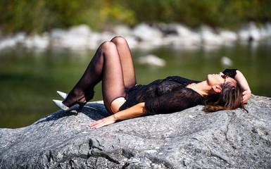 Bella donna abito sexy