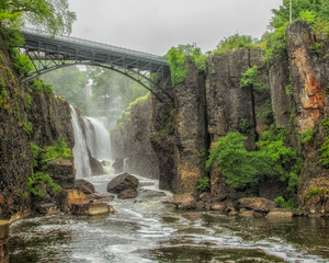 Rainy Day at the Great Falls in Paterson New Jersey