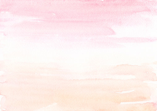 Blush pink Beige watercolor background