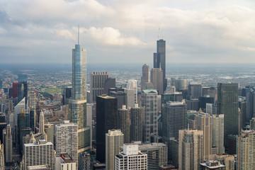 Chicago skyline at dusk 2