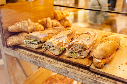 take away street food display in shop