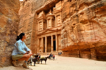 Woman in Old City Petra