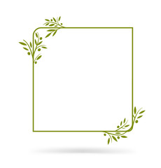 Olive tree border. Vector element. EPS10.