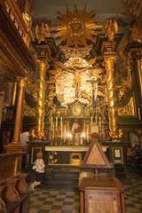 Kalwaria Zebrzydowska, Poland, 02 September 2018: Fragment of the interior of the Passion-Marian Sanctuary of the Bernardine Fathers in the Zebrzydowska harpsment near Krakow