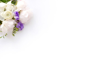 Styled photo - white peonies