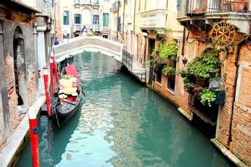 Türaufkleber Gondeln View of Venicw. Venezia. Venecia. Gondolas and momunents. streets and canals.