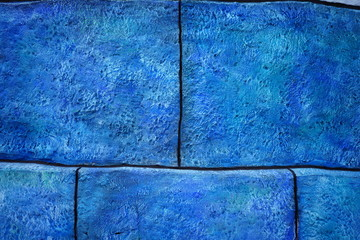 big blue bricks background