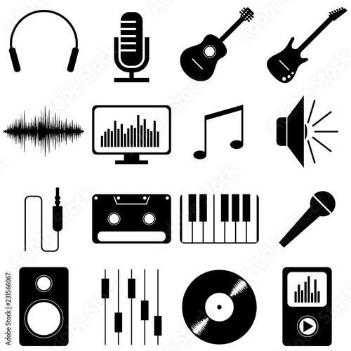 Music pictograms/ icons