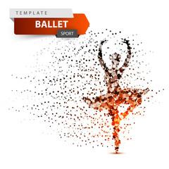 Ballet, sport, dancing girl illustration Vector eps 10