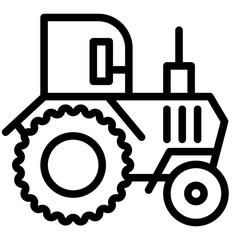 Tractor line icon. Agronomy vector illustration isolated on white. Agricultural outline style design, designed for web and app. Eps 10.