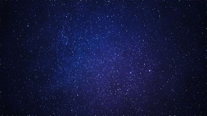 Blue Starfield Starry night sky, galaxy with stars and space dust in the universe
