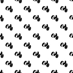 Election thumb up pattern vector seamless repeating for any web design