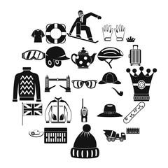Headdress icons set. Simple set of 25 headdress vector icons for web isolated on white background