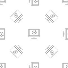 Video online pattern seamless vector repeat geometric for any web design
