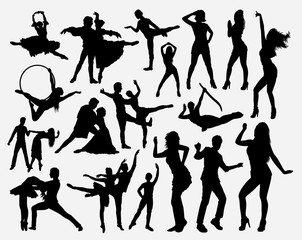 Dance competition silhouette for symbol, logo, web icon, mascot, game elements, mascot, sign, sticker design, or any design you want. Easy to use.