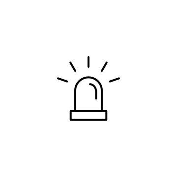 emergency alert symbol line black icon on white background
