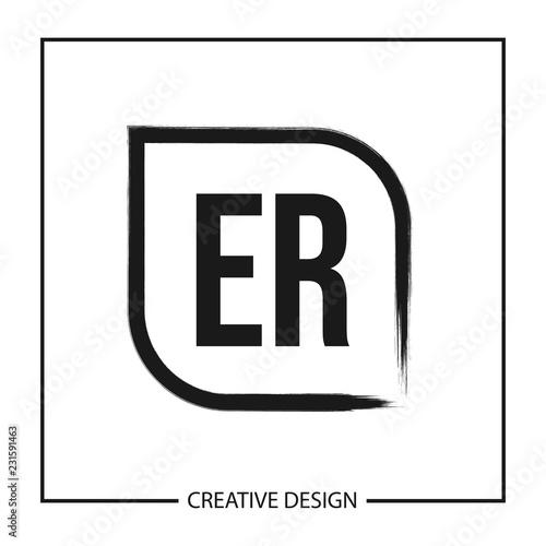 Initial Letter Er Logo Template Design Vector Illustration Fichier