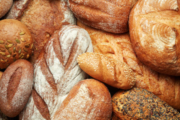 assortment of fresh baked bread