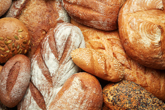 assortment of fresh baked bread