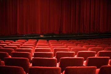 Foto op Aluminium Theater red theater seats