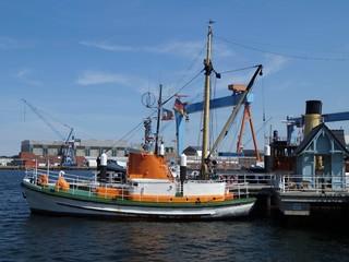 Boat at the pier. Nord Germany - Kiel
