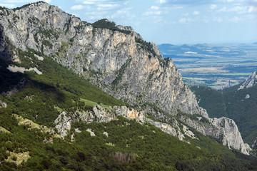 Amazing Landscape of Balkan Mountains with Vratsata pass,  town of Vratsa and Village of Zgorigrad, Bulgaria
