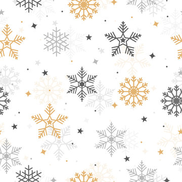 Christmas with snowflake seamless pattern isolated background. Greeting Card, Banner, Vector illustration