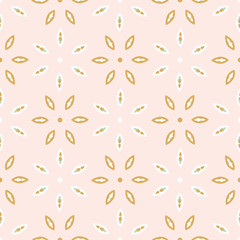 Spring Flower Motif Daisy Style Seamless Vector Pattern. Hand Drawn Allover Floral Texture for Fresh Green Textile Prints, Summer Decor, Pretty Backdrops. Feminine Packaging, Gift Wrap, Wallpaper.