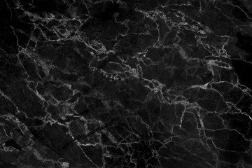 Black marble natural pattern for background,