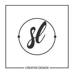Initial Letter SL Logo Template Design Vector Illustration