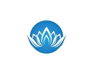 Beauty flower logo illustration