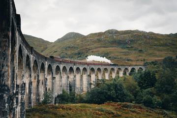 Old classic steam train in Scotland