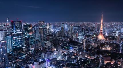 東京都心夜景  Fototapete