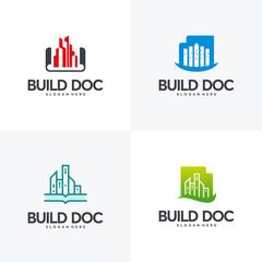 Set of Buildings Document logo designs concept vector, Property symbol, Real estate logo