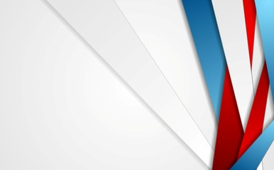 Fotobehang - Abstract red blue grey stripes corporate background