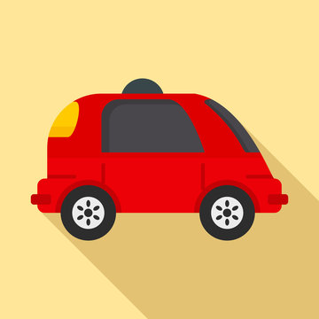 Driverless car icon. Flat illustration of driverless car vector icon for web design