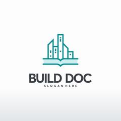 Buildings Document logo designs concept vector, Property symbol, Real estate logo