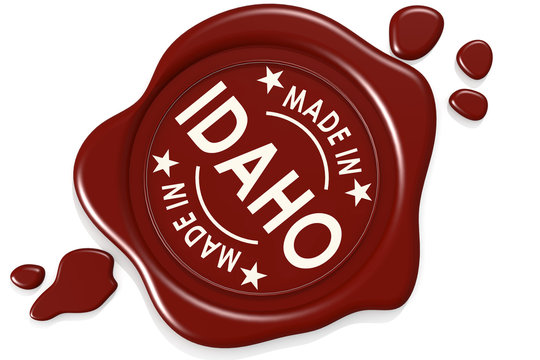 Label seal of made in Idaho