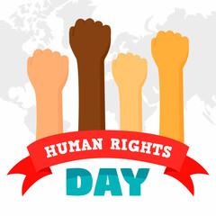 Human rights day concept background. Flat illustration of human rights day vector concept background for web design