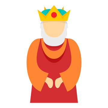 Christian king icon. Flat illustration of christian king vector icon for web design