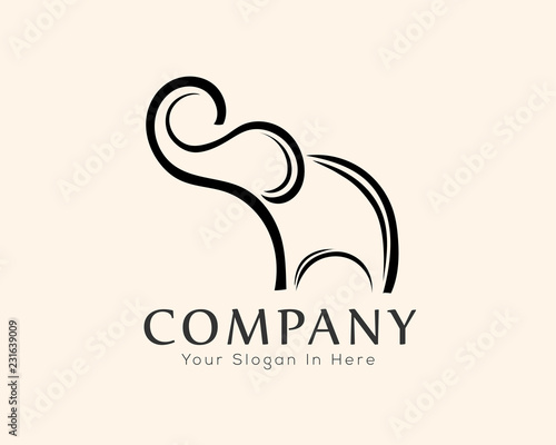 d7f91cc93 elephant drawing art logo design inspiration