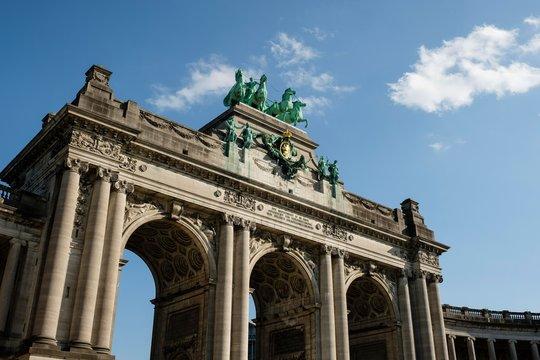 Arch, Jubilee Park, Parc du Cinquantenaire, Brussels, Belgium, Europe