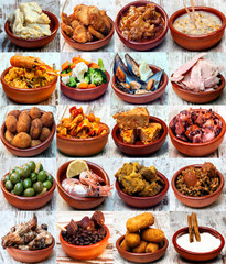 Collage of typical spanish food