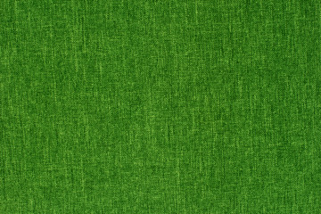 Green textile texture for background with visible fibers.