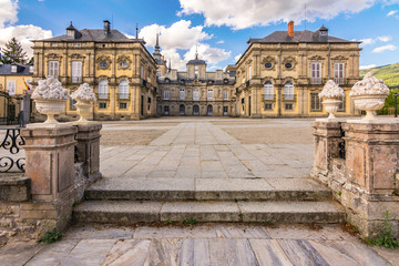 Palace and Gardens of the Granja de San Ildefonso from the 18th century in Segovia Spain
