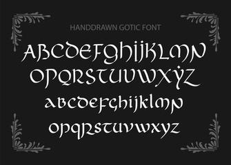 7311723 Decorative vintage magic styled letters. Vector script.